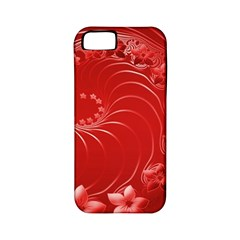 Red Abstract Flowers Apple iPhone 5 Classic Hardshell Case (PC+Silicone)