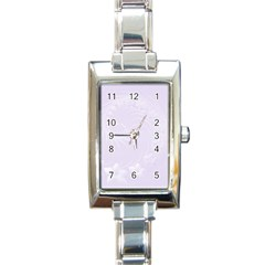 Pastel Violet Abstract Flowers Rectangular Italian Charm Watch