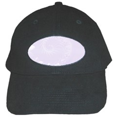 Pastel Violet Abstract Flowers Black Baseball Cap