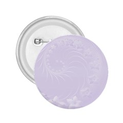 Pastel Violet Abstract Flowers 2.25  Button