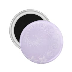 Pastel Violet Abstract Flowers 2.25  Button Magnet