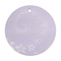 Pastel Violet Abstract Flowers Round Ornament