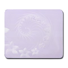 Pastel Violet Abstract Flowers Large Mouse Pad (Rectangle)