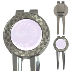 Pastel Violet Abstract Flowers Golf Pitchfork & Ball Marker
