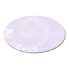 Pastel Violet Abstract Flowers Magnet (Oval)