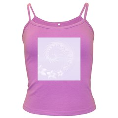 Pastel Violet Abstract Flowers Spaghetti Top (Colored)