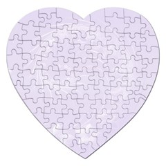 Pastel Violet Abstract Flowers Jigsaw Puzzle (heart)