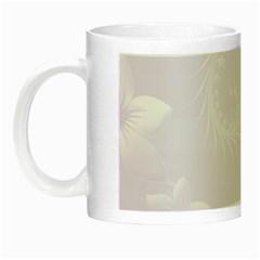 Pastel Violet Abstract Flowers Glow in the Dark Mug