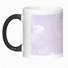 Pastel Violet Abstract Flowers Morph Mug