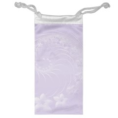 Pastel Violet Abstract Flowers Jewelry Bag
