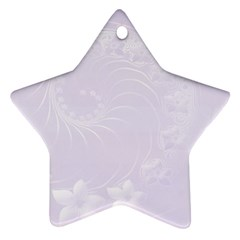 Pastel Violet Abstract Flowers Star Ornament (Two Sides)