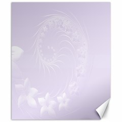 Pastel Violet Abstract Flowers Canvas 8  x 10  (Unframed)