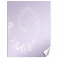 Pastel Violet Abstract Flowers Canvas 12  x 16  (Unframed)