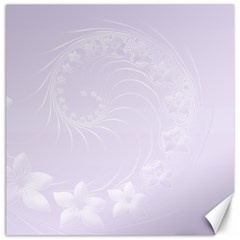 Pastel Violet Abstract Flowers Canvas 20  x 20  (Unframed)