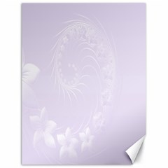 Pastel Violet Abstract Flowers Canvas 18  x 24  (Unframed)