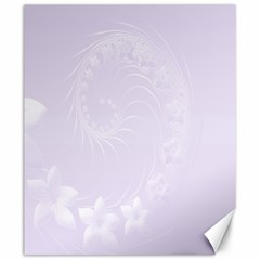 Pastel Violet Abstract Flowers Canvas 20  X 24  (unframed)