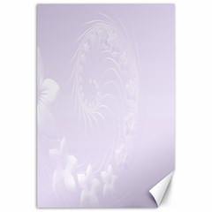 Pastel Violet Abstract Flowers Canvas 20  X 30  (unframed)