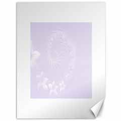 Pastel Violet Abstract Flowers Canvas 36  x 48  (Unframed)