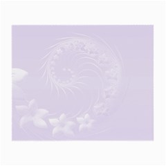 Pastel Violet Abstract Flowers Glasses Cloth (Small, Two Sided)