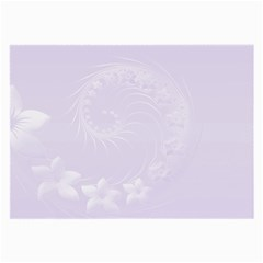 Pastel Violet Abstract Flowers Glasses Cloth (Large)