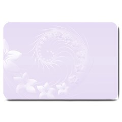 Pastel Violet Abstract Flowers Large Door Mat