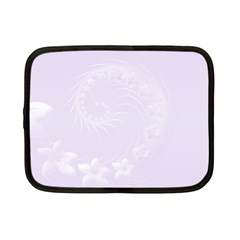 Pastel Violet Abstract Flowers Netbook Case (Small)