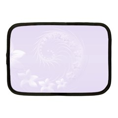 Pastel Violet Abstract Flowers Netbook Case (Medium)