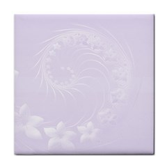 Pastel Violet Abstract Flowers Face Towel