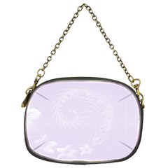 Pastel Violet Abstract Flowers Chain Purse (One Side)