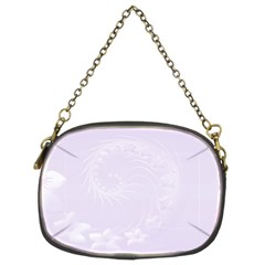 Pastel Violet Abstract Flowers Chain Purse (Two Side)