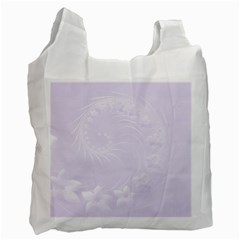 Pastel Violet Abstract Flowers Recycle Bag (one Side)