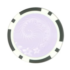 Pastel Violet Abstract Flowers Poker Chip 10 Pack