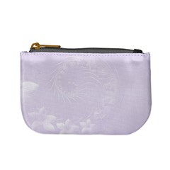 Pastel Violet Abstract Flowers Coin Change Purse