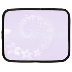 Pastel Violet Abstract Flowers Netbook Case (xl)