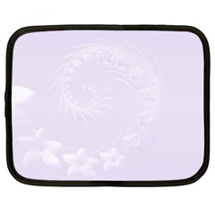 Pastel Violet Abstract Flowers Netbook Case (xxl)