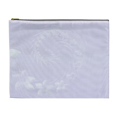 Pastel Violet Abstract Flowers Cosmetic Bag (XL)