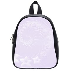 Pastel Violet Abstract Flowers School Bag (Small)