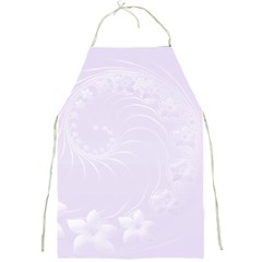 Pastel Violet Abstract Flowers Apron