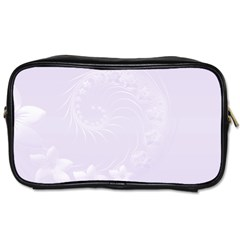 Pastel Violet Abstract Flowers Travel Toiletry Bag (Two Sides)