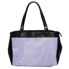 Pastel Violet Abstract Flowers Oversize Office Handbag (one Side)