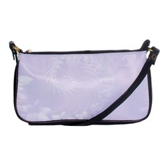 Pastel Violet Abstract Flowers Evening Bag