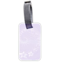 Pastel Violet Abstract Flowers Luggage Tag (One Side)