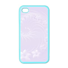 Pastel Violet Abstract Flowers Apple Iphone 4 Case (color)