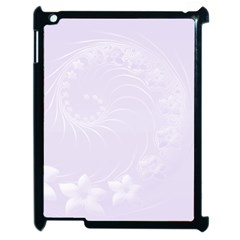 Pastel Violet Abstract Flowers Apple iPad 2 Case (Black)