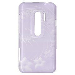 Pastel Violet Abstract Flowers HTC Evo 3D Hardshell Case