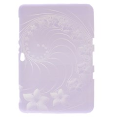 Pastel Violet Abstract Flowers Samsung Galaxy Tab 8.9  P7300 Hardshell Case