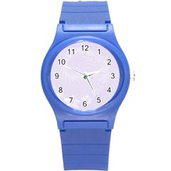 Pastel Violet Abstract Flowers Plastic Sport Watch (small)