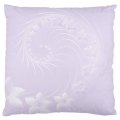Pastel Violet Abstract Flowers Large Cushion Case (one Side)