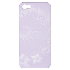 Pastel Violet Abstract Flowers Apple Iphone 5 Hardshell Case