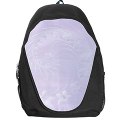 Pastel Violet Abstract Flowers Backpack Bag